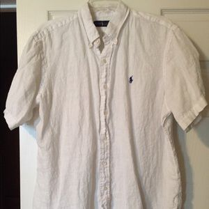 Men's white linen Ralph Lauren
